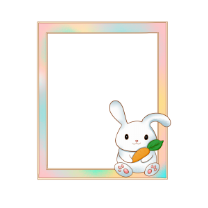 กรอบรูปการ์ตูน กระต่าย