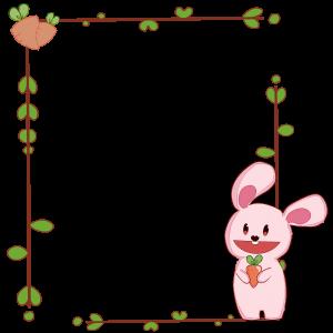 กรอบรูปการ์ตูน กระต่ายกินแครอท