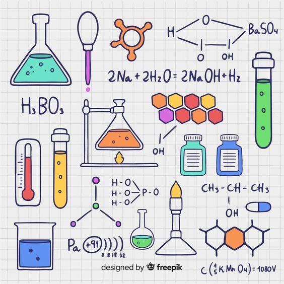 ตกแต่งใบงานเคมี รูปวาด