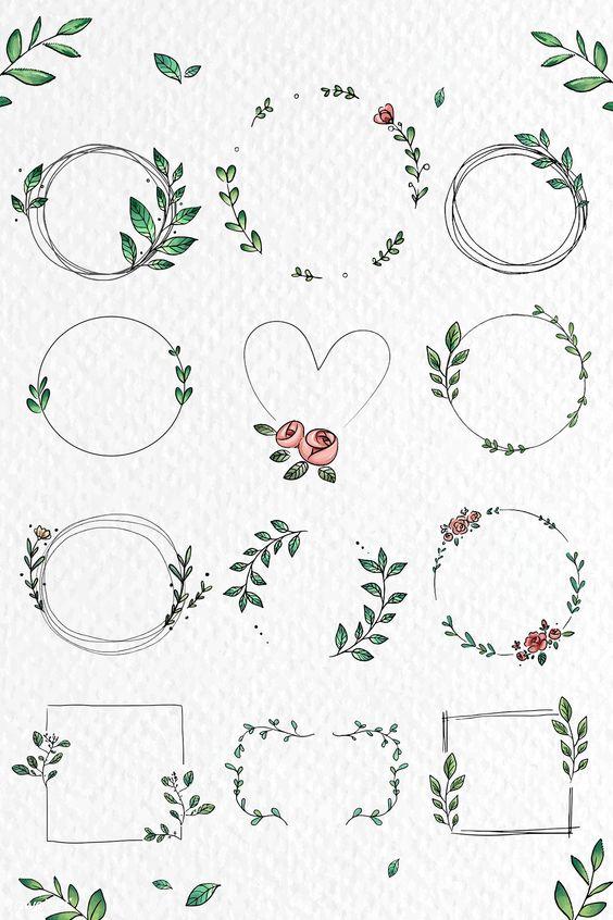 ตกแต่งใบงาน ดอกไม้