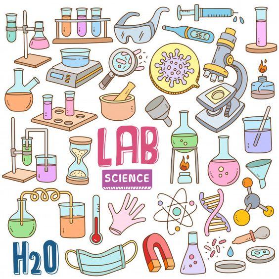 ตกแต่งใบงาน วิทยาศาสตร์ ห้องแล็บ