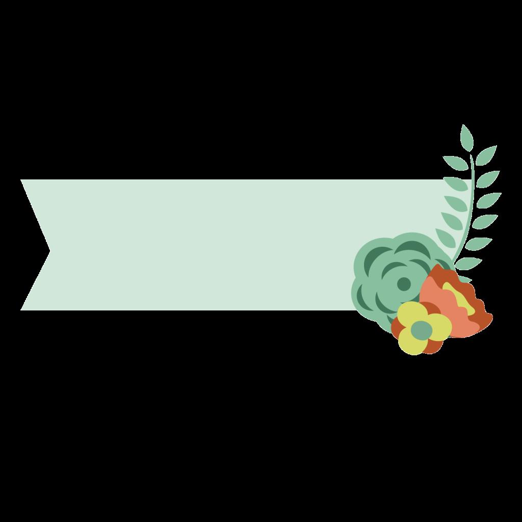 กรอบข้อความ ดอกไม้ PNG